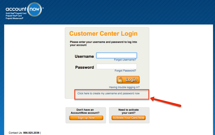 """How to Register accountnow card online"""