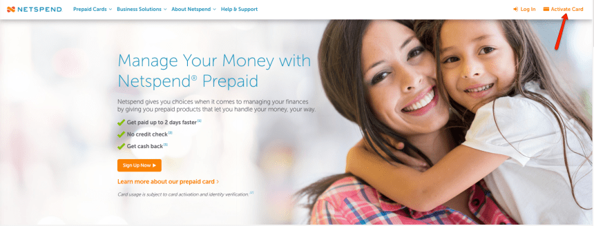 'Netspend Prepaid - activate a new card""