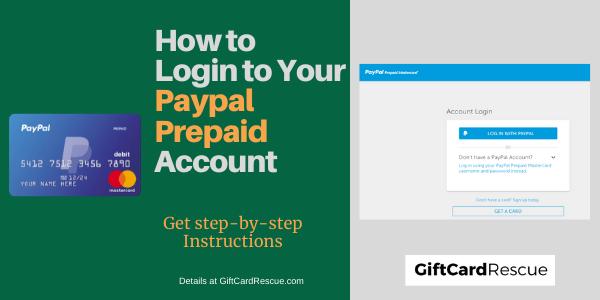 """PayPal Prepaid Login"""