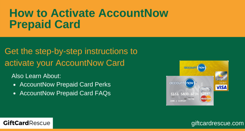 """How to Activate AccountNow Prepaid Card"""