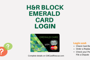 """How to Login to H&R Block Emerald Card"""
