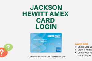 """How to Login to Jackson Hewitt American Express Card"""