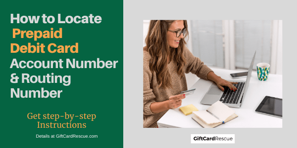 """How to locate prepaid debit card account number and routing number"""