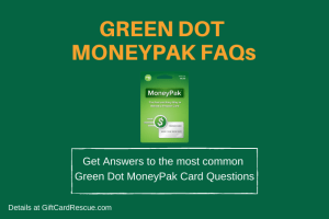 """Green Dot MoneyPak FAQs"""