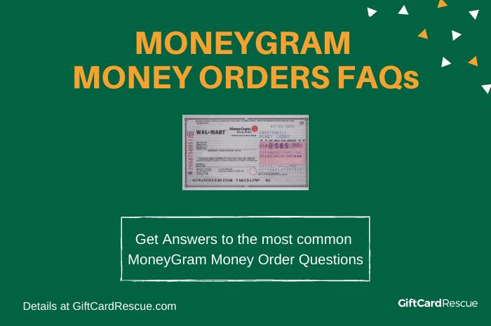 """""""MoneyGram Money Order FAQs"""""""
