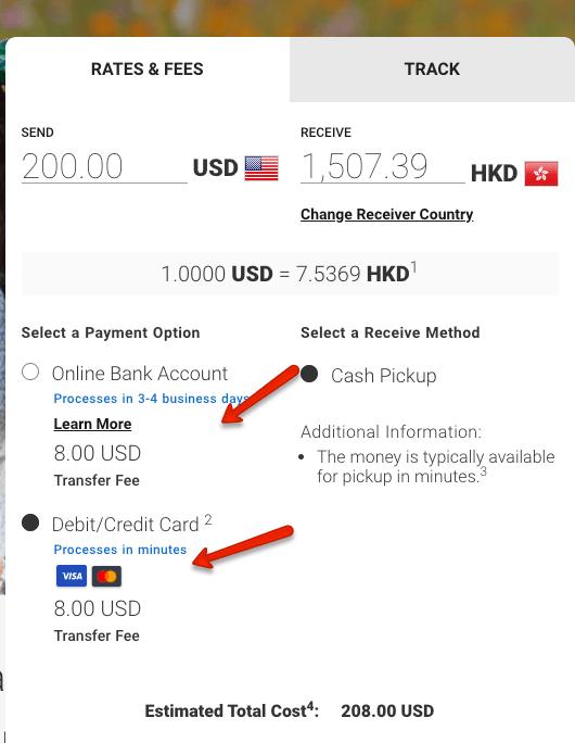 """Moneygram at Walmart Fees"""