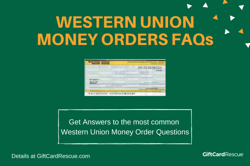 """Western Union Money Order FAQs"""