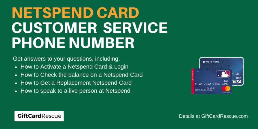"""Netspend Customer Service Number"""