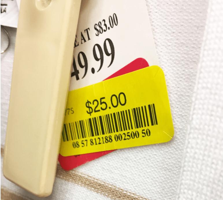"""TJ Maxx Yellow Price Tag"""