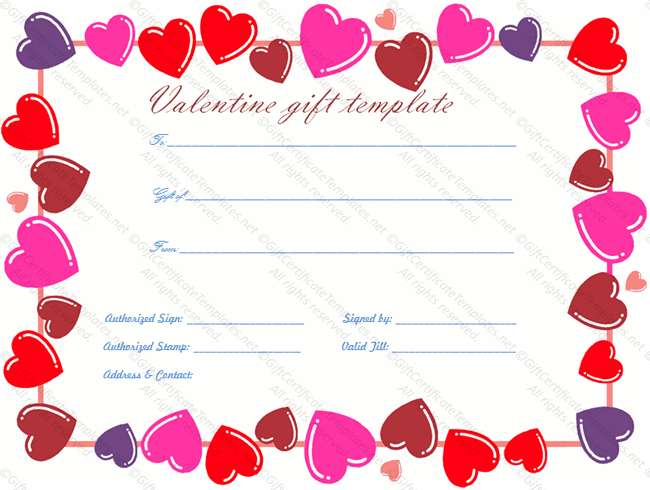 Valentines Day Printable Download Doc Editable Heart