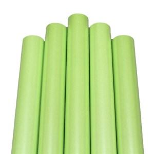 Set 5 role hartie perlata ambalat cadouri verde deschis