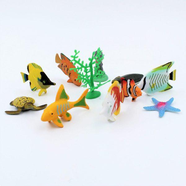 Set diverse figurine animale marine Coral