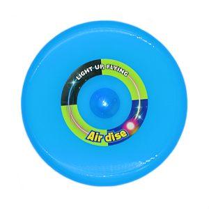 Disc zburator frisbee albastru 25cm cu led.