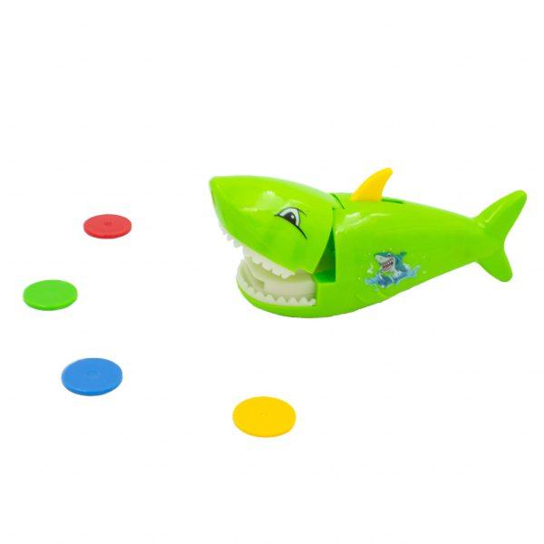 Jucarie catapulta rechin verde lansator fise.