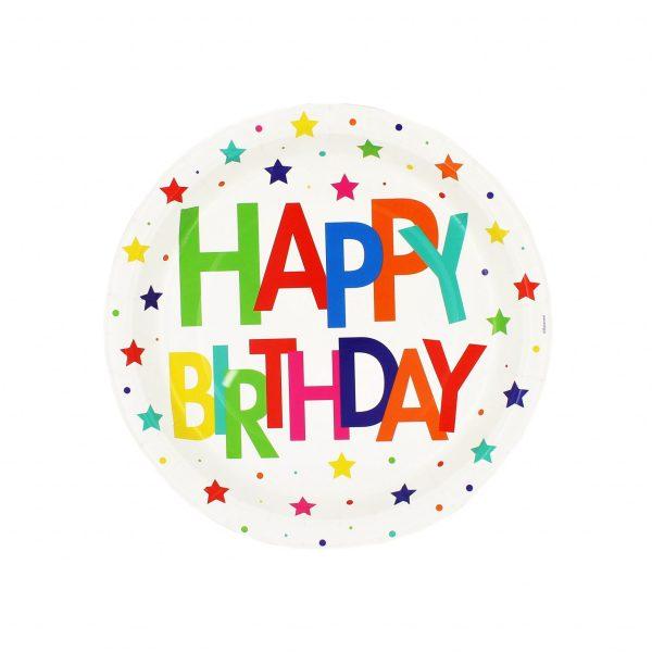 Set 8 farfurii 23cm Happy birthday