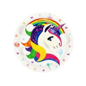 Set 8 farfurii 23 cm Unicorn