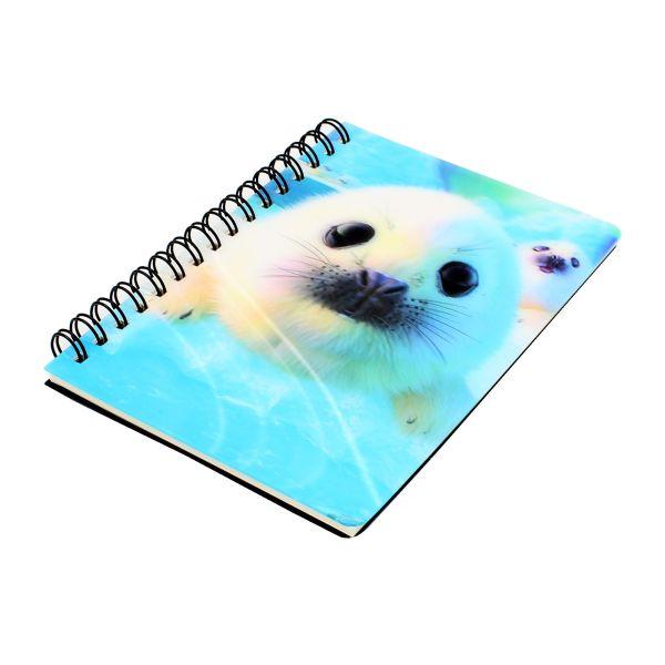 Carnetel zoo cu spirala 3D Seal Pups