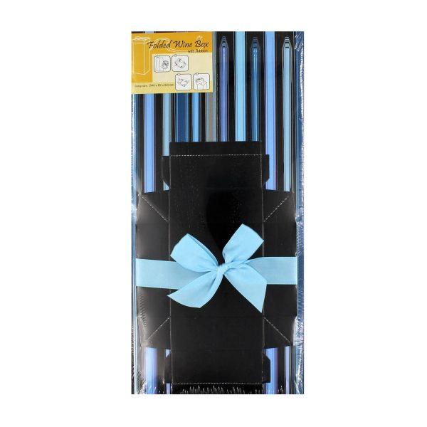 Cutie băuturi dungi albastre 34x8x8 cm