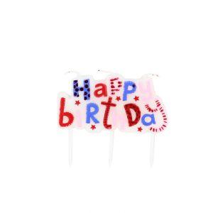 Lumanare party Happy Birthday Pink