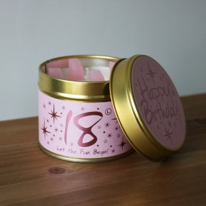 18 birthday scented candle image 1
