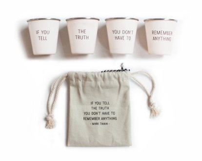 Scorpios hate dishonesty, but they will love this Mark Twain Shot Glass Set.