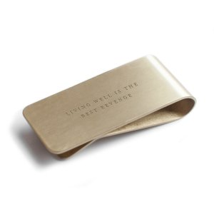 money clip izola brass heavyweight metal wallet gifts for him father's day
