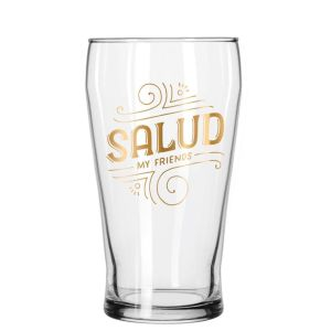 gold-foil spanish drinking salud cheers congratulations drinkware barware partyware gift gifting ideas fancy classy glassware