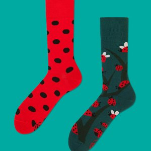 This last minute gift is the coziest pair of dotted mismatched socks for your grandson, or nature lover - and each pair purchased gives a pair back to a child in need or a homeless shelter (double win). lady bugs dress socks men's fashion statement piece gifts for him father's day gifts