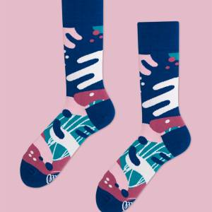 These cozy socks are a sweet present for a holiday, birthday, or memorable occasion. The purple, blue, and pink pattern also make a great unisex gift to thank your bridal party for being a part of your big day. dress socks men's socks unmatched socks men's gift guide gifts for him