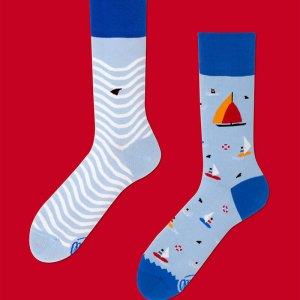 sail boat socks stockings dress socks men's fashion gifts for him father's day gifts unmatched socks