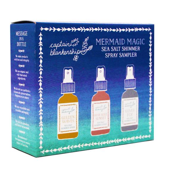 Captain Blankenship Mermaid Shimmer Set Hair Spray Gifts for Teens Gifts for Summer Babies Gifts for Beach Lover