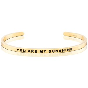 Have someone in your life that makes you happy, even when the skies are grey? Be sure to let them know with this adorable Mantra Band - perfect for your girlfriend, your daughter, or a niece as a birthday, thank you or anniversary present. you are my sunshine mantra bands gold sliver bracelet jewelry gifts for her