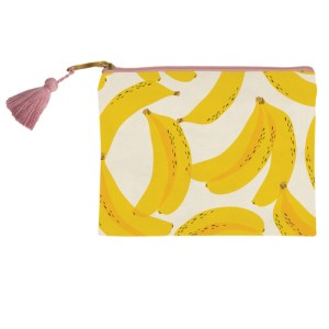 banana canvas bag yellow pink pencil bag pens pencil case present presents gift gifts gifting ideas gifts for her happy birthday