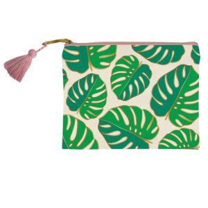 monstera leaf leaves bag banana leaves banana leaf present pencil case pencil bag pens present presents for her gift gifting ideas