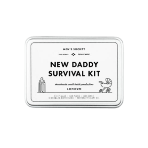 new daddy survival kit gift gifting ideas present presents father father's day cheers celebrate new parents infant newvborn kids children
