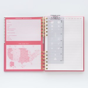 pink bullet journal perfect for gifting introverts, writers, organizers, teens