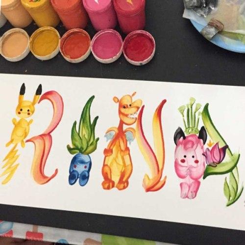 custom pokemon name painting sey studios