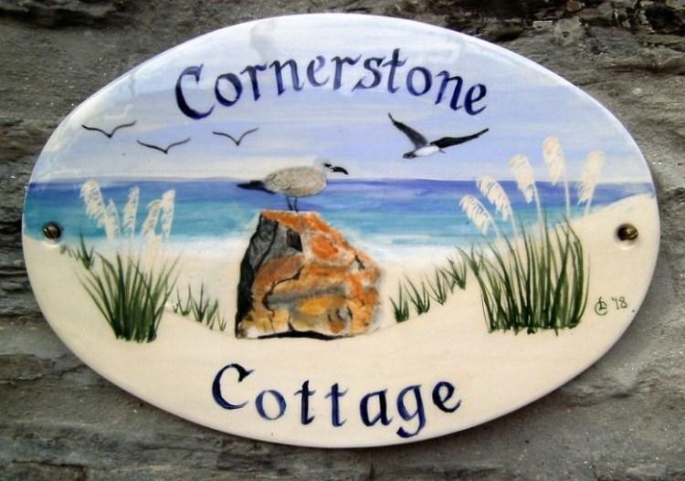 ceramic house sign