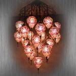 All Glass Mosaic Lamp