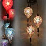 Handmade Drop Mosaic Light