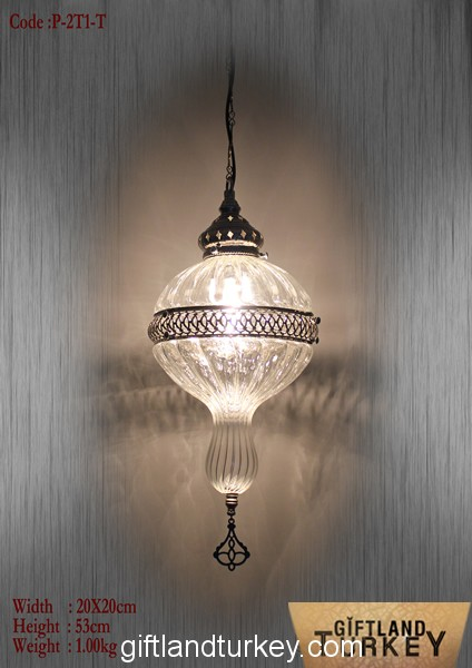 Single Pendant Pyrex Light