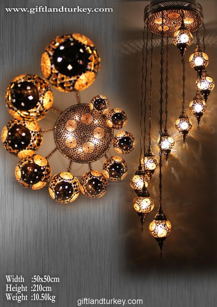 Arabic lamp or Turkish mosaic lamp