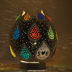 Color drop mosaic lamp