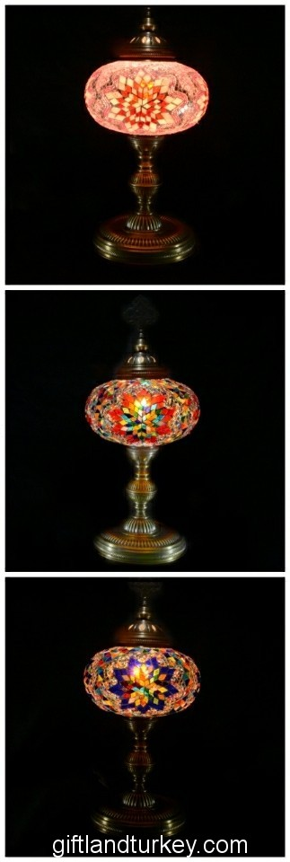 Film rulo mosaic lamps
