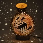 Scorpion mosaic lamp