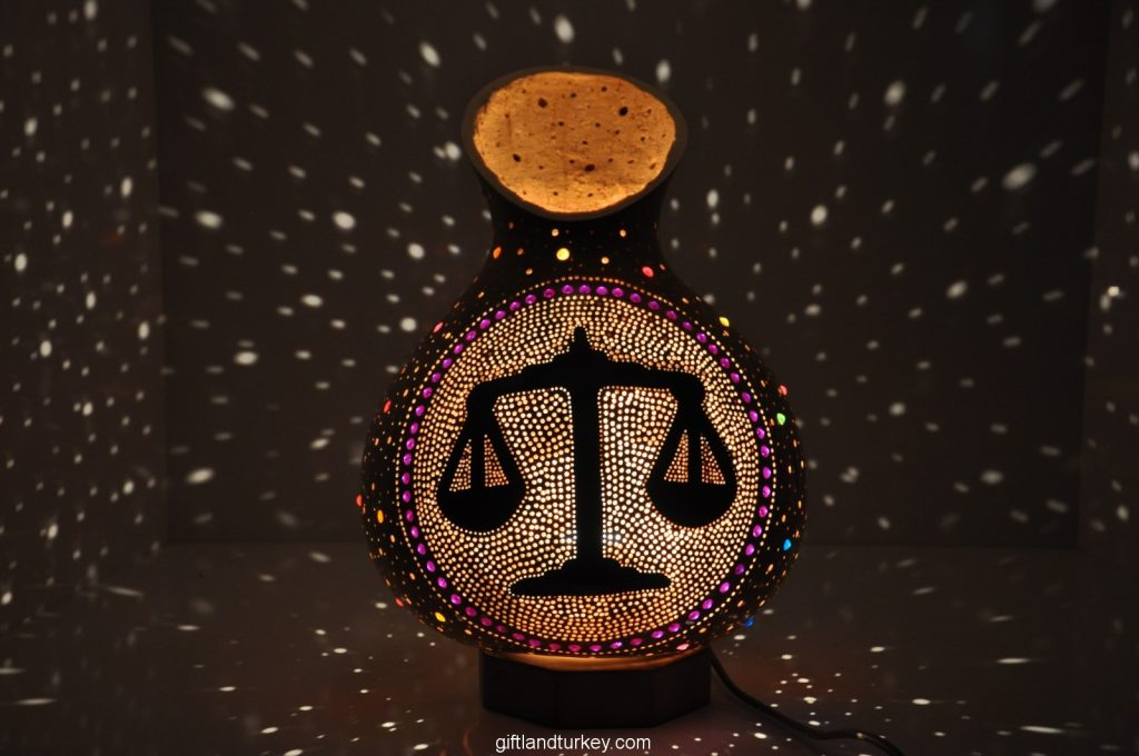 LIBRA MOSAIC LAMP