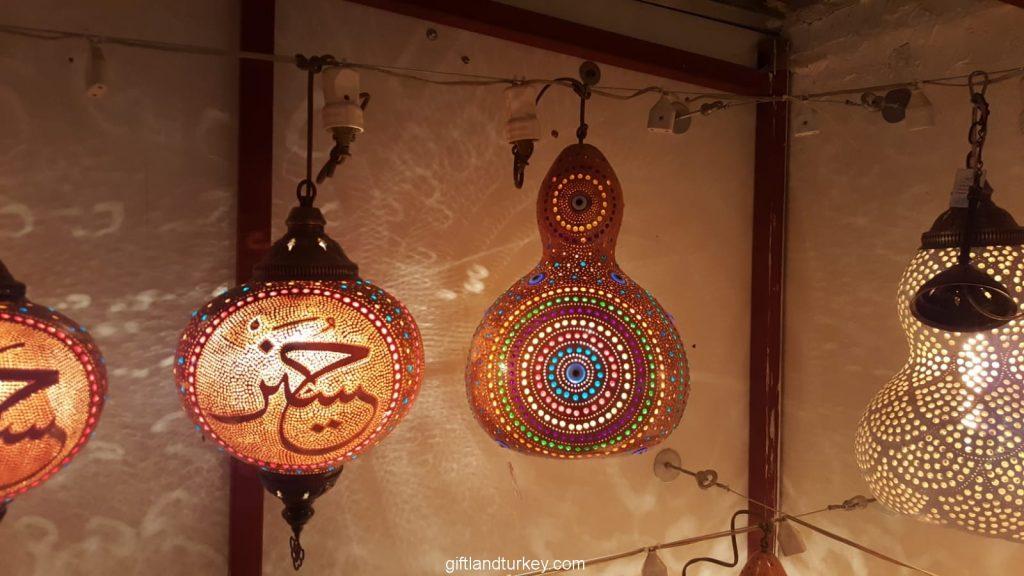 Circle mosaic lamp