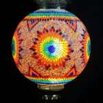 London eye mosaic lamp