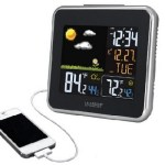 Indoor Outdoor Thermometer with clock