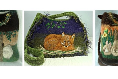 Handmade Felted Animal Purses